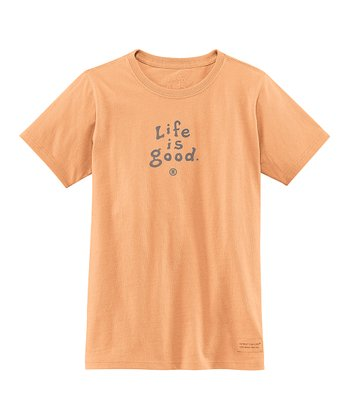 Tangerine Logo Crusher Tee - Girls