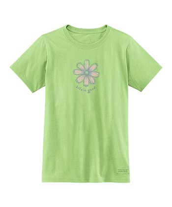 Citron Green Fresh Flower Crusher Tee - Girls