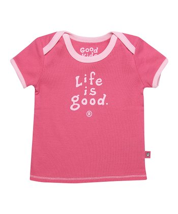 Hot Pink Logo Ringer Tee - Infant