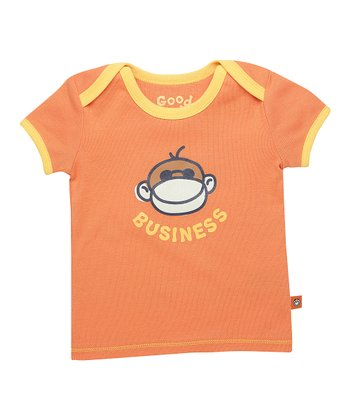 Juicy Orange 'Monkey Business' Ringer Tee - Infant