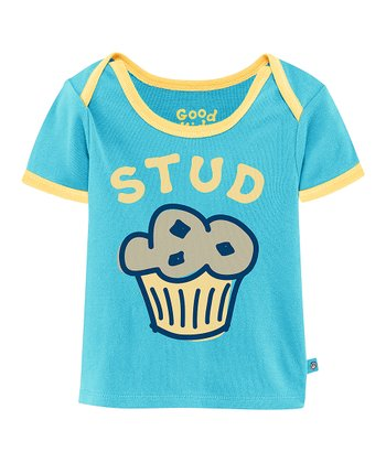 Summer Turquoise 'Stud Muffin' Ringer Tee - Infant