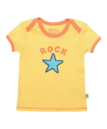 Sunny Yellow 'Rock Star' Ringer Tee - Infant