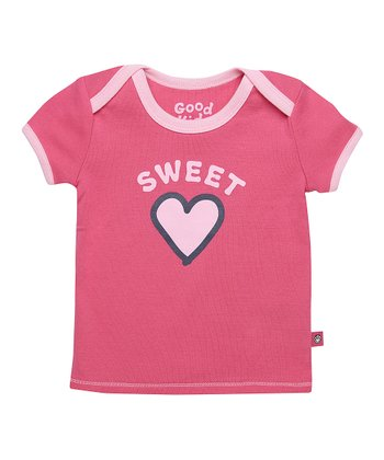 Hot Pink 'Sweet Heart' Ringer Tee - Infant