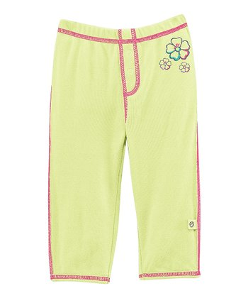Citron Green Hibiscus Pants - Infant