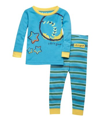 Summer Turquoise Baseball Top & Pants - Infant