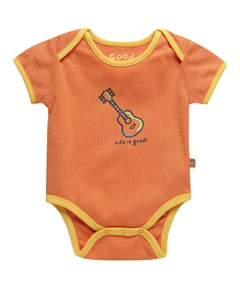 Juicy Orange Guitar Ringer Bodysuit - Infant