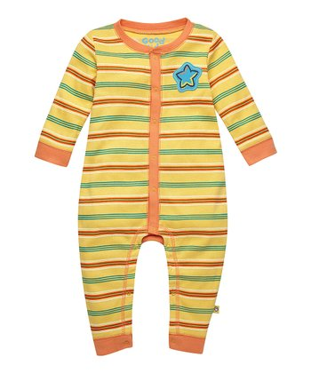 Sunny Yellow Star Stripe Playsuit - Infant