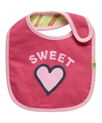 Hot Pink 'Sweet Heart' Reversible Bib