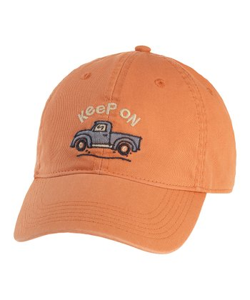 Sunset Orange 'Keep on Trucking' Chill Cap - Men