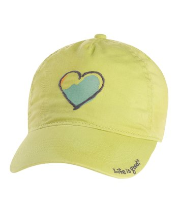Citron Green Heart Twill Chill Cap - Women