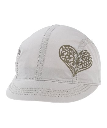 Silver Gray Heart Shortie Cap - Women