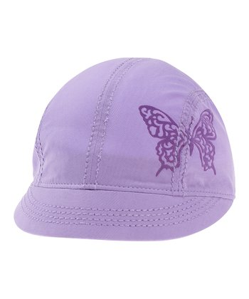 Soft Purple Butterfly Shortie Cap - Women
