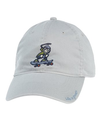 Gray Skateboard Chill Cap