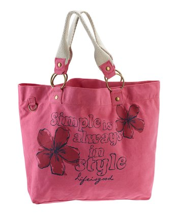 Hot Pink 'Simple is Always in Style' Latitude Tote