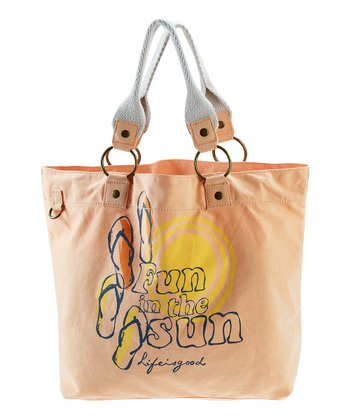 Tangerine Orange 'Fun in the Sun' Latitude Tote