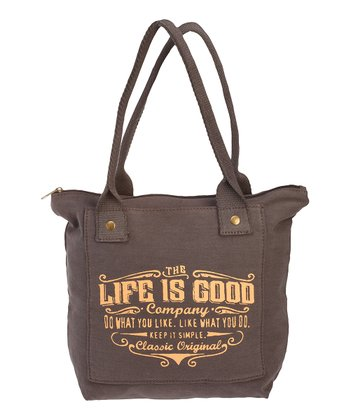 Dark Brown 'Do What You Like' Pocket Tote