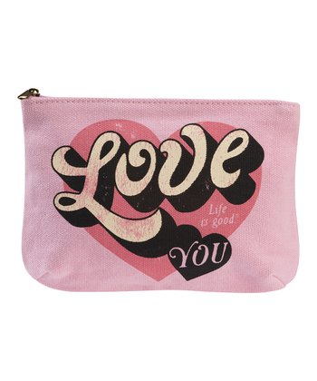 Petal Pink 'Love You' Precious Cosmetic Bag