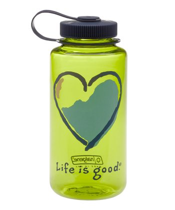 Citron Green Heart 32-Oz. Water Bottle