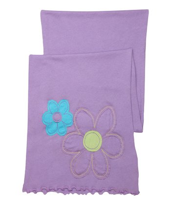Soft Purple Flower Scarf - Women