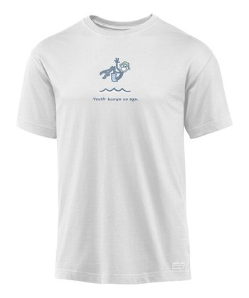 Light Gray 'Youth Knows No Age' Crusher Tee - Men