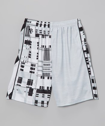 Black & White Combination Lax Short - Boys & Men