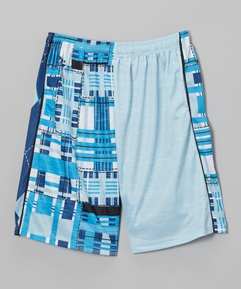 Blue & White Combination Lax Short - Boys & Men