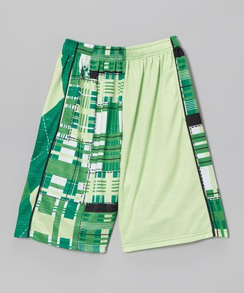 Green & White Combination Lax Short - Boys & Men