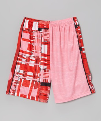 Red & White Combination Lax Short - Boys & Men