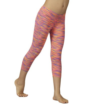 Knockout Pink Sanded Dry Wik Leggings
