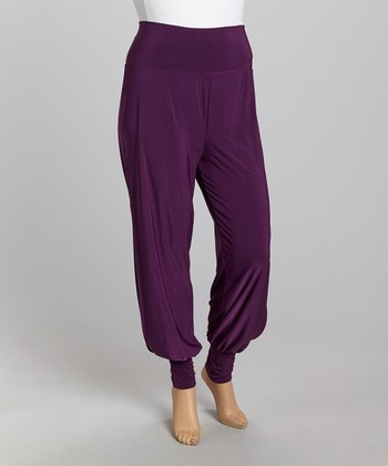 Plum Harem Pants - Plus