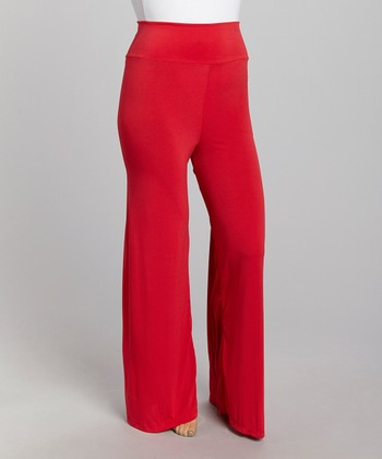 Red Palazzo Pants - Plus