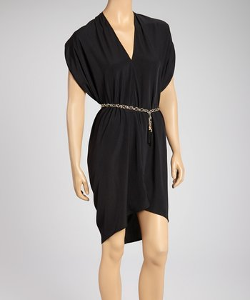 Black Draped Dress