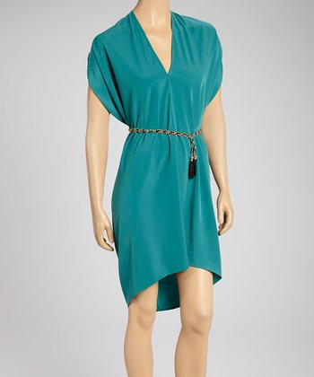 Emerald Draped Dress