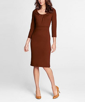 Bittersweet Three-Quarter Sleeve Ponte Dress - Petite