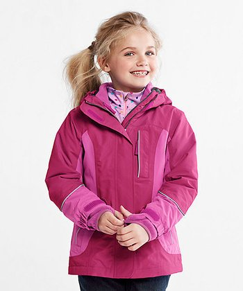 Bright Magentanta Squall Waterproof Parka - Toddler & Girls