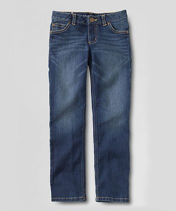 Dark Wash Straight Leg Jeans - Toddler & Girls
