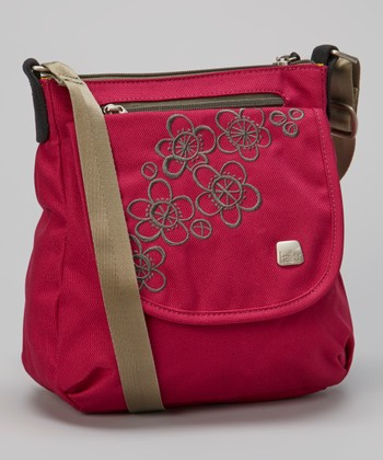 Raspberry & Stone Green Jaunt Crossbody Bag
