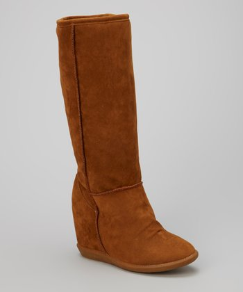 Tan Tom Wedge Tall Boot