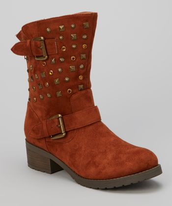Tan Studded Christoph Boot