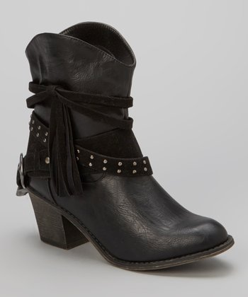 Black Deborah Boot