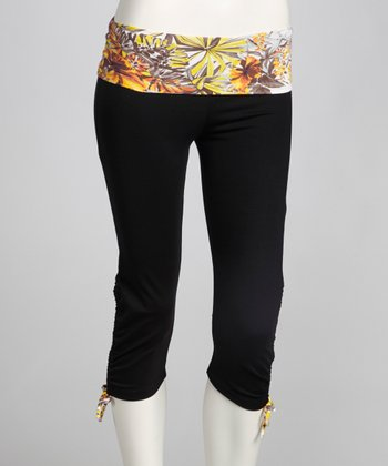 Black & Earth Blossom Ambition Capri Pants