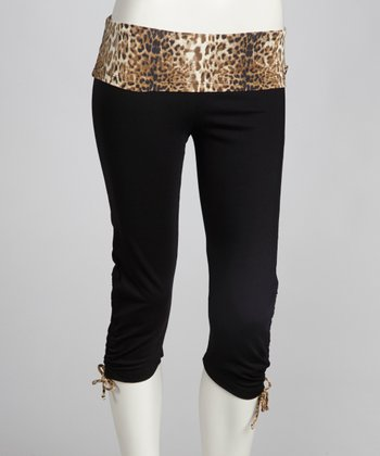 Black & Fire Animal Ambition Capri Pants