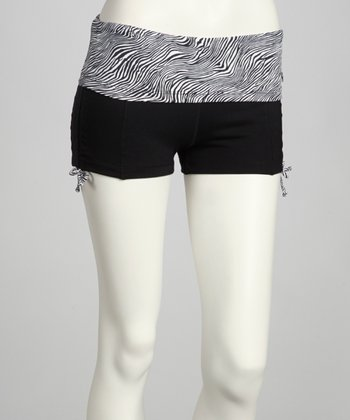 Black & Metal Zebra Ambition Shorts
