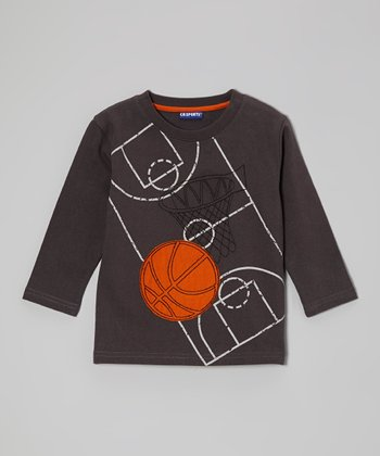 Charcoal Basketball Court Tee - Infant & Boys
