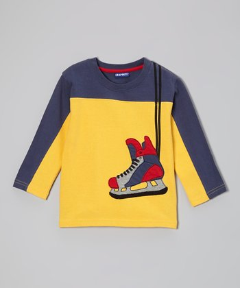 Yellow Hockey Skate Tee - Infant, Toddler & Boys