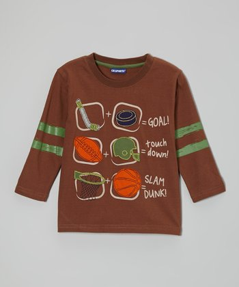 Brown Sports Tee - Infant & Toddler
