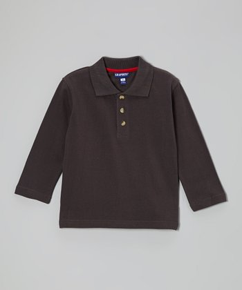 Charcoal Polo - Infant, Toddler & Boys