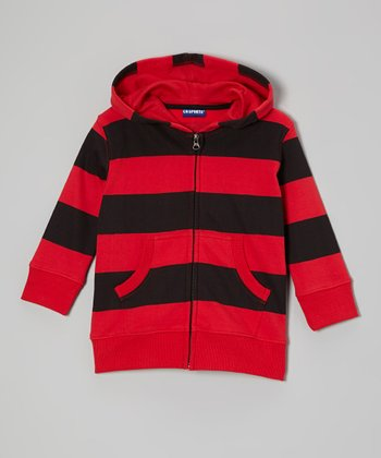 Red Stripe Zip-Up Hoodie - Infant, Toddler & Boys