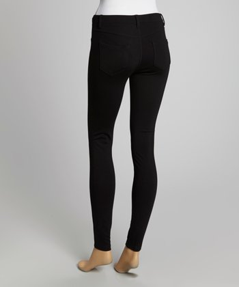 Black Ponte Skinny Pants