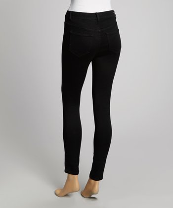 Navy High-Waisted Skinny Pants